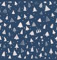 christmas tree seamless pattern flat design vector image vector image