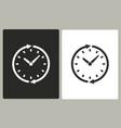 clock - icon vector image vector image