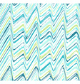 Colorful stripes seamless zigzag pattern vector image vector image
