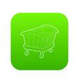 cradle icon green vector image