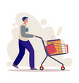 customers flat characters vector image vector image