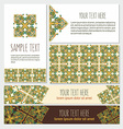 decorative template banner and card set vector image vector image