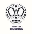 dia de los muertos sugar skull vector image