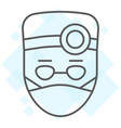 doctor thin line icon stomatology and dentist vector image vector image