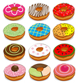 Donuts cute Collection Set vector image vector image