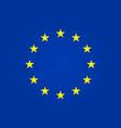 european flag eu stars in circle euro union vector image vector image