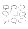 Freehand drawing bubble speech items vector image vector image