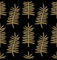 golden palm leaves seamless pattern vector image vector image
