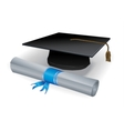 Graduation mortar and diploma vector | Price: 1 Credit (USD $1)