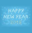 happy new year 2018 folk card vector image