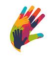 human hands symbol vector image