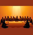 jesus shared with his apostles vector image vector image