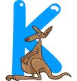 K for kangaroo vector image