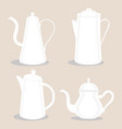 logo for ceramic teapot vector image vector image