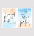 love yourself quote on beautiful watercolor beach vector image