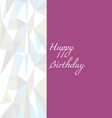 Low poly birthday card vector image vector image