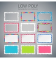 Low Poly Rectangle Banners Set vector image