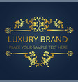 luxury brand gold text flower design image vector image vector image