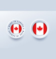 made in canada round label badge button sticker vector image vector image