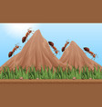 many ants climbing up the mountains vector image vector image