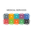 medical services cartoon template with flat vector image vector image