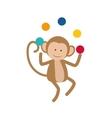 Monkey juggling cartoon vector image