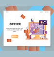 office website landing page design template vector image vector image