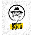 old school rock creative design element stylish vector image vector image