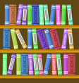 online education bookcase or book shelf backdrop vector image vector image