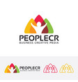 people creative logo design vector image vector image