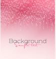 pink glitter light vector image