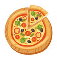 pizza flat icons isolated vector image vector image