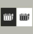 planning calendar - icon vector image vector image