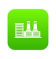 power plant icon digital green vector image vector image