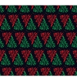 Red and Green Floral Seamless Pattern vector image vector image