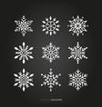 season snowflake silhouette set vector image vector image