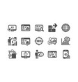 seo icons increase sales business strategy and vector image vector image