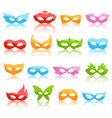 Set Collection of Glassy Colorful Carnival vector image vector image
