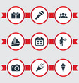 Set of simple party icons