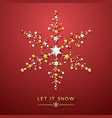 snowflake background with shining stars bow and vector image vector image