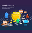 solar system plantets and orbits in universe vector image
