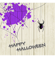 Spider and violet blots vector image