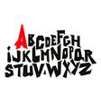 straight lines comic graffiti font alphabet vector image vector image