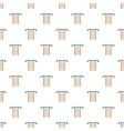 Swedish wall pattern cartoon style vector image vector image