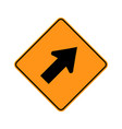 usa traffic road signsclosed lane vector image