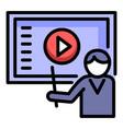 webinar teacher icon outline style vector image vector image