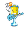 with guitar mimosa mascot cartoon style vector image vector image