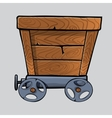 wooden mine cart vector image