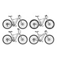 sports bicycles set vector image
