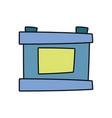 car battery isolated cartoon vector image